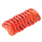 ACECAMP 9101 Dual Holes Aluminum Rope Buckle - Orange (10 PCS)
