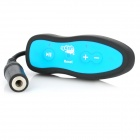 SM021 Water Resistant MP3 Music Player w/ Clip / Waterproof Bag - Black + Blue (4GB)