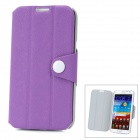 Protective PU Leather + PC Case for Samsung Galaxy Note 2 N7100 - Purple
