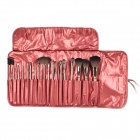 MEGAGA 325-4# Professional 18-in-1 Cosmetic Makeup Brushes Set - Indian Red