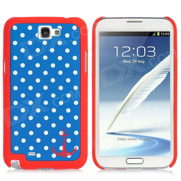 Polka Dot Style Protective Detachable Bumper Frame w/ Back Cover for Samsung Galaxy Note II N7100 protective plastic bumper frame for samsung n7100 pink