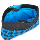 Multi-Function Cartoon Deer Patterns Cotton Handheld Storage Bag - Blue + Black