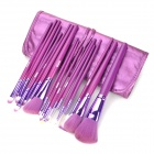 MEGAGA 325-2# Professional 18-in-1 Cosmetic Makeup Brushes Set - Medium Orchid