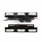 6W 480lm Blue / Red Light 12-LED Flash Warning Lamp (12V / 2 PCS)