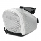 FLYBY Cycling Bicycle Bike Saddle Seat PU Tail Bag - Silver White