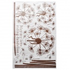 Decorative Dandelion Style PVC Wall Paper Sticker - Brown (60 x 90cm)