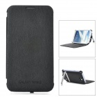 External 3800mAh Emergency Power Battery PU Leather Case for Samsung Galaxy Note 2 N7100 - Black