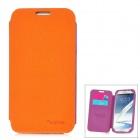 SAMDI Protective PU Leather Case for Samsung Galaxy Note 2 N7100 - Orange + Purple