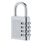 CR-206 Mini Resettable Zinc Alloy Combination Padlock - Silver