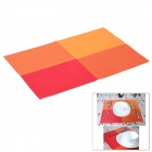 Western Food PVC Heat Insulation Pad Table Mat - Orange + Red + Yellow