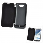 External 3600mAh Emergency Power Battery PU Leather Case for Samsung Galaxy Note 2 N7100 - Black