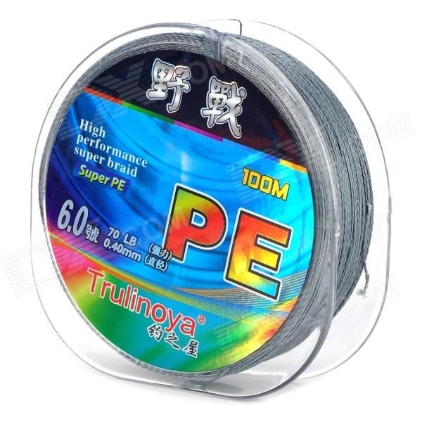 цена на Trulinoya 100m PE Filament Fishing Line / Thread - Grey