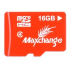 Maxchange microSD Micro SD HC / TF Memory Card - Red (16GB / Class 4)