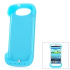 External 3200mAh Emergency Power Battery Plastic Back Case for Samsung Galaxy S3 i9300 - Blue