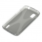 Protective Matte TPU Back Case for LG E960 Nexus 4 - Transparent Grey