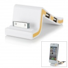 3-Port UBS 2.0 HUB + 30Pin Connector Charging Dock w/ USB for iPhone - White + Orange