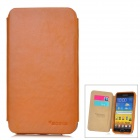 SAMDI Protective PU Leather Case for Samsung Galaxy Note i9220 - Brown