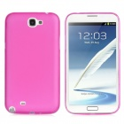 0.4mm Ultrathin Protective Plastic Back Case for Samsung Galaxy Note 2 N7100 - Translucent Deep Pink