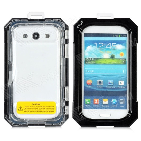 Protective Waterproof Case for Samsung Galaxy S3 i9300 - Black fashionable protective bumper frame case with bowknot for samsung galaxy s3 i9300 black