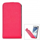 Protective Flip-Open PU Leather Case for Samsung Galaxy Note 2 N7100 - Deep Red