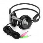 KEENION KOS-588 Wired Stereo Headset Headphones w/ Microphone - Black (3.5mm Plug)