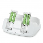 Charging Dock Station for Wii U Gamepad and Wii Remote - White