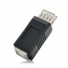 USB 2.0 Female to Printer Interface Female Adapter - Black