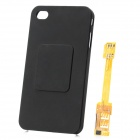 Dual SIM Card Adapter w/ Back Case for iPhone 4 - Black