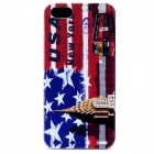 Protective New York Pattern Plastic Back Case w/ Screen Guard for Iphone 5 - Multicolored