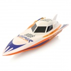 950 Rechargeable 3-Channel R/C Speed Boat Model w/ Remote Controller - White
