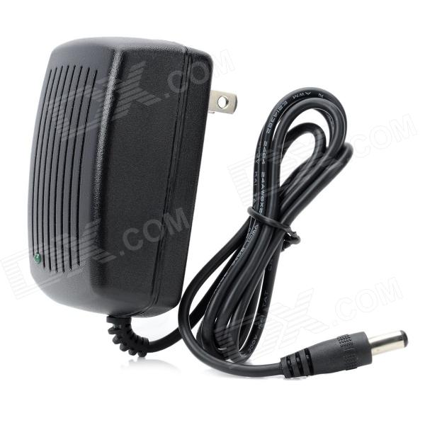 AN-1210A AC Power Charger Adapter - Black (2-Flat-Pin Plug / 110~240V / 90cm-Cable / DC 5.5 x 2.1mm)