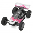 Zhengrun ZR-Z301 Mini R / C 2,4 2-CH 1:32 Scale SuperSpeed ​​Plastic Racing Car - Deep Pink + Black
