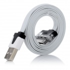 Flat Design Flash USB Data & Charging Cable for iPhone / iPad / iTouch - White (100cm)