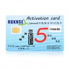 Universal Activation Card for iPhone 5 / 4S - Golden