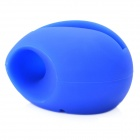 Egg Style Silicone Amplifier for Iphone 4 / 4S / 5 - Blue