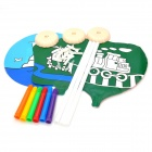 Cultivation Intelligence Dual-Side Cartoon Pattern Kid's Hand- Painted Balloons - Multicolored