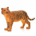 OP10 Dekorative Doughty Jungle Resin Tiger Toy - Black + Pale Brown