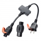 330BK Easy-Pull Power Cable w/ 2P to 3P Adapter for Laptop / Digital Camera / Projector - Black