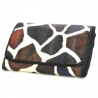 Portable Cosmetic Makeup Brushes Set w/ Giraffe Pattern Storage Bag - Black + Coral (31 PCS)