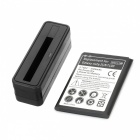 Replacement 3.7V 3500mAh Battery + Battery Charger for Samsung Galaxy Note II N7100 - Black