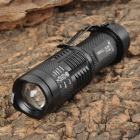 SMALL SUN ZY-C81 Cree XR-E Q3 100~240lm 3-Mode White Zooming Flashlight - Black (1 x AA / 14500)