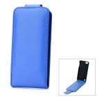 Protective Top Flip-Open PU Leather Case for Ipod Touch 5 - Blue
