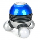 Atomic Shaped 7-Color Light Blood Circulation Massager - Blue + Black + Silver