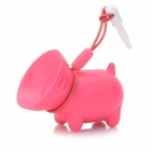 Cute Dog Style Silicone Stand / Holder w/ Dustproof Plug for Iphone 4 / 4S - Red