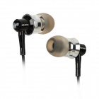 Apolok ME-C049-4 Stylish In-Ear Stereo Bass Earphones - Black + Silver (3.5mm Plug / 120cm)