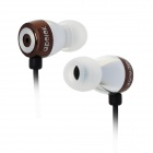 Apolok ME-C030-2 Stylish In-Ear Stereo Bass Earphones - Coffee (3.5mm Plug / 120cm)