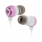 Apolok ME-C030-1 Stylish In-Ear Stereo Bass Earphones - Purple + White (3.5mm Plug / 120cm)