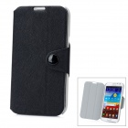 Protective PU + PC Flip-Open Case w / Magnet für Samsung N7100 Galaxy Note2 - Black