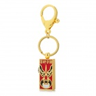 L001 Beijing Opera Facial Mask Pattern USB 2.0 Flash Memory Drive Stick - Golden + Red + Black (4GB)