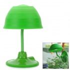 USB Creative Changeable Flexible Neck 12-LED Lamp w/ Suction Cup - Green